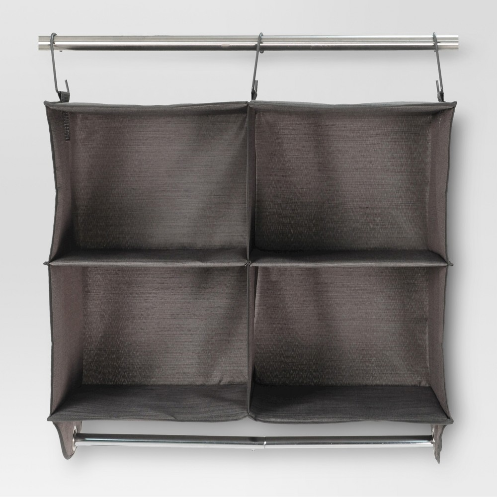 4-Shelf Hanging Closet Storage Unit - River Birch - Threshold, Gray 4-Shelf Hanging Closet Storage Unit - River Birch - Threshold Color: Gray. Gender: Unisex.