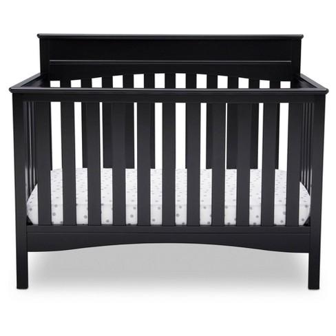 Delta Children Skylar 4-in-1 Convertible Crib - Black - image 1 of 4