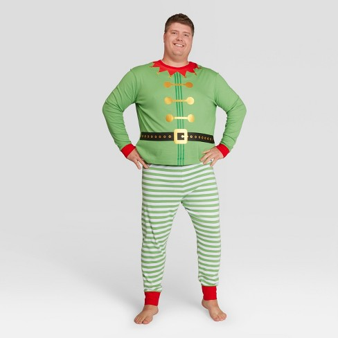 mens big tall holiday elf pajama set wondershop green