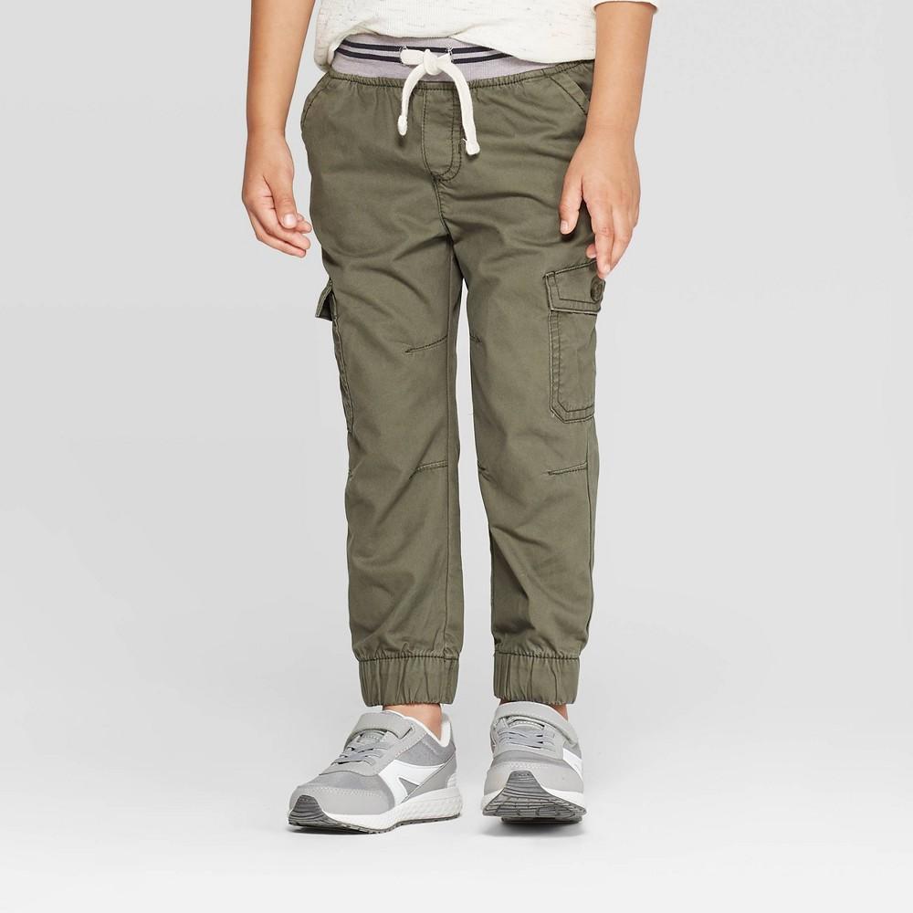 Image of Toddler Boys' Cargo Jogger Pants - Cat & Jack Olive 12M, Boy's, Green