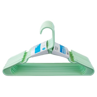 18 pk Plastic Hanger - Mint - Room Essentials™