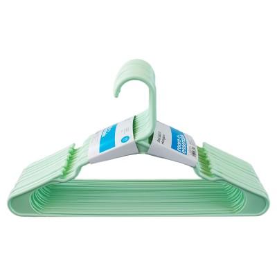 18pk Plastic Hanger Pale Green - Room Essentials™