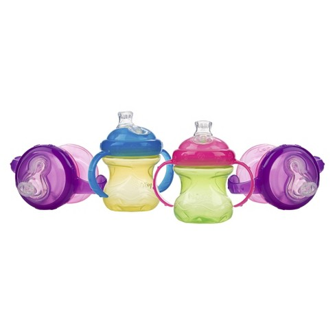 Nuby No-Spill Super Spout 2 Handle Cup - Girl (4 pack) - image 1 of 1