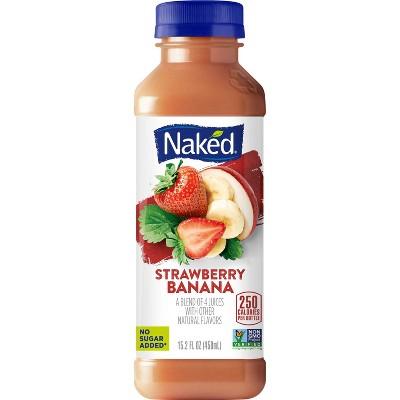 Naked Strawberry Banana All Natural Vegan Juice Smoothie - 15.2oz
