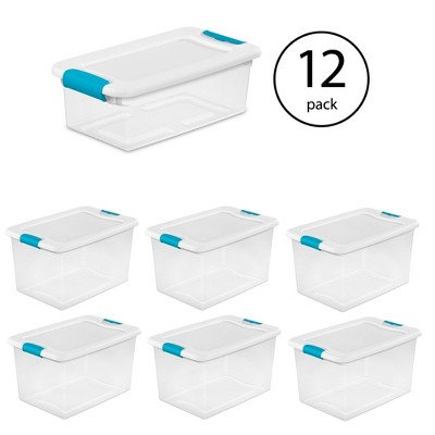 Sterilite 6 Qt Latching Storage Box 12 Pack & 64 Qt Latching Storage Box 6 Pack
