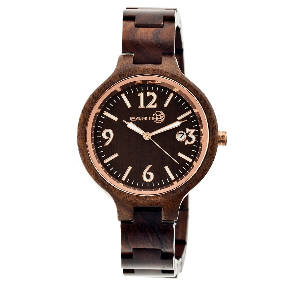 Women's Earth Nodal Watch with Luminous hands and Date Display-Brown, Brown