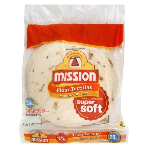 "MISSION Flour Medium Tortilla 20 ct 35 oz 8"" - image 1 of 1"