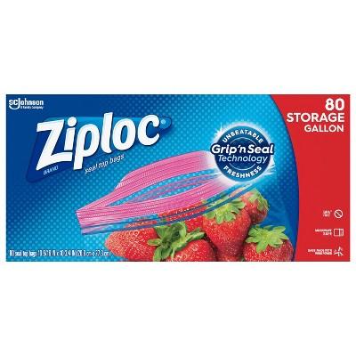 Ziploc Grip N Seal Super Mega Pack Storage Gallon - 80ct