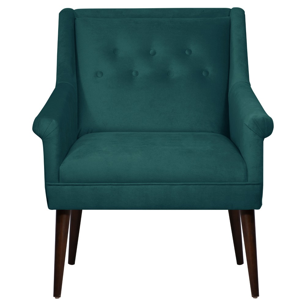 Button Tufted Chair in Mystere Peacock - Skyline Furniture