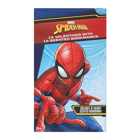 Marvel Spider-Man 16ct Valentines With Scented Bookmarks - image 1 of 1