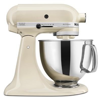 KitchenAid Refurbished 5qt Artisan Stand Mixer Almond Cream - RRK150AC