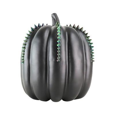 Large Halloween Metallic Studded Pumpkin Black - Hyde and Eek! Boutique™