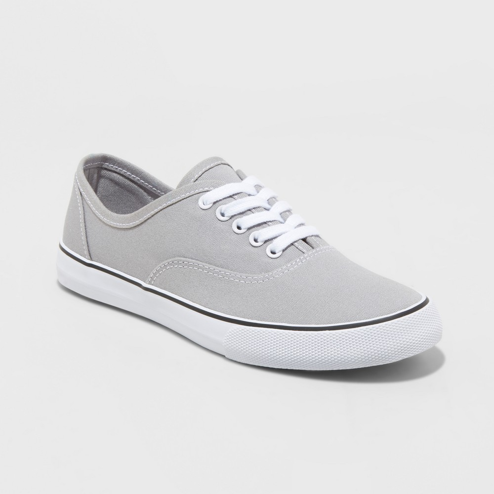 Women's Layla Lace up Canvas Sneakers - A New Day Gray 7