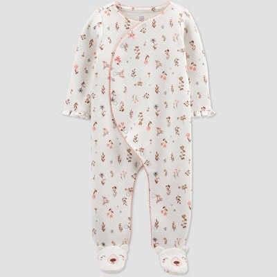 Baby Girls' Floral Sleep N' Play - Just One You® made by carter's Ivory
