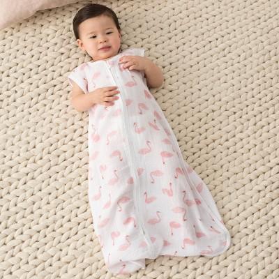 aden by aden + anais Wearable Blanket - Briar Rose - Flamingo Pink
