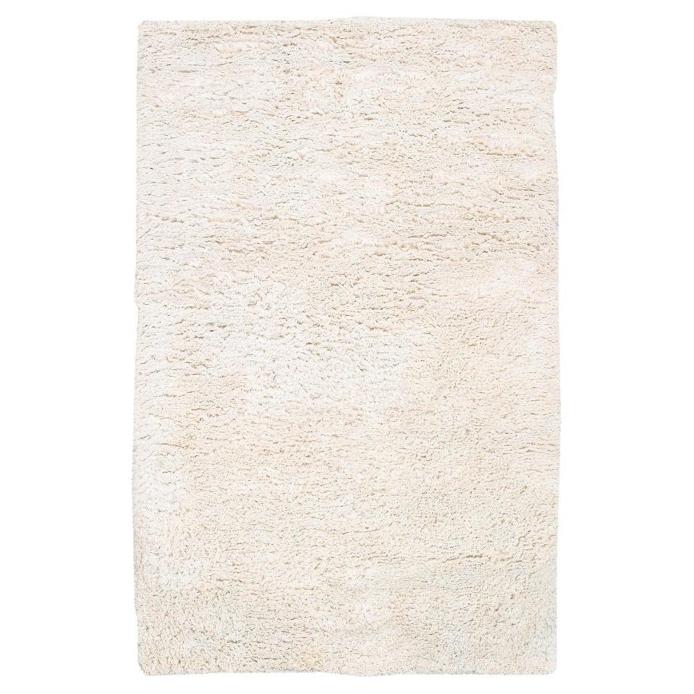 Cream (Ivory) Solid Woven Area Rug - (9'X13') - Surya