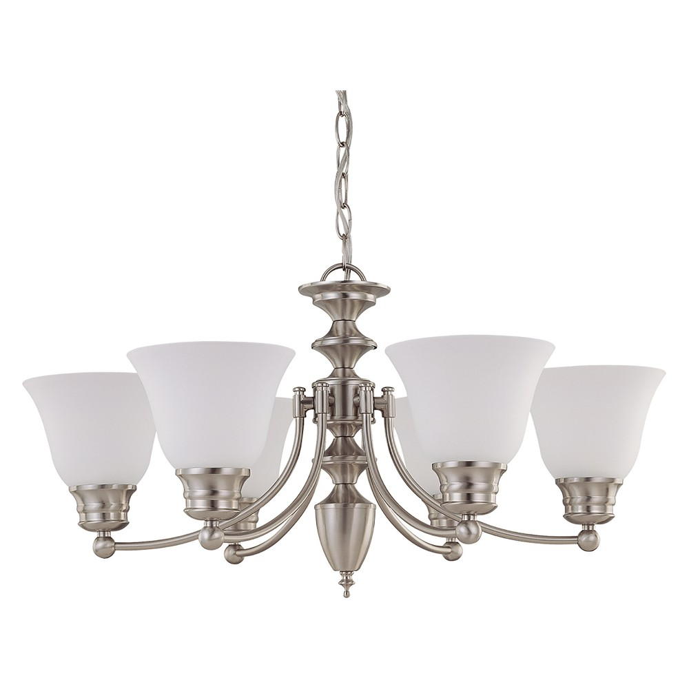 Aurora Lighting 6 Light Chandelier Brushed Nickel