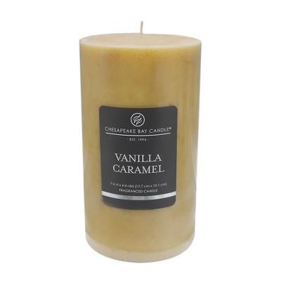 Pillar Candle Vanilla Caramel 7 x4  - Chesapeake Bay Candle