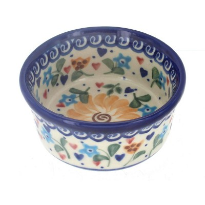 Blue Rose Polish Pottery Butterfly Small Bowl