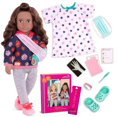 """Our Generation 18"""" Doll with Hospital Gown & Storybook - Keisha"""