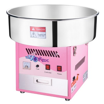 Great Northern Popcorn Cotton Candy Machine Vortex Floss Maker With Stainless Steel Pan, Storage Drawer - Pink