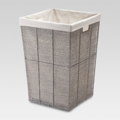 Square Twisted Paper Rope Laundry Hamper - Gray - Threshold™