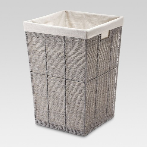 Square Twisted Paper Rope Laundry Hamper - Gray - Threshold™ - image 1 of 1