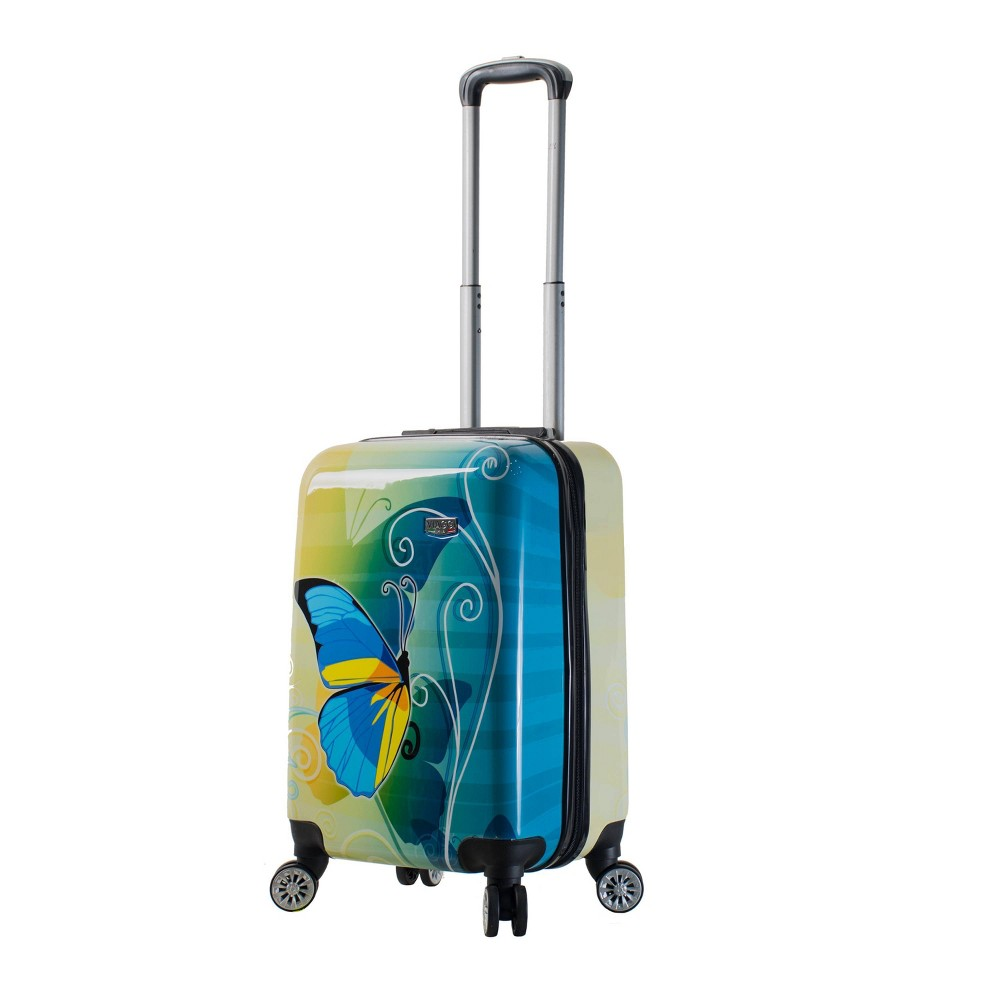"Image of ""Mia Viaggi ITALY 20"""" Hardside Carry On Suitcase - Butterfly, MultiColored"""