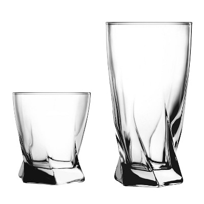 Anchor 16pc Glass Sybil Drinkware Set