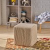 Tessie Knitted Foot Stool - Christopher Knight Home - image 2 of 4