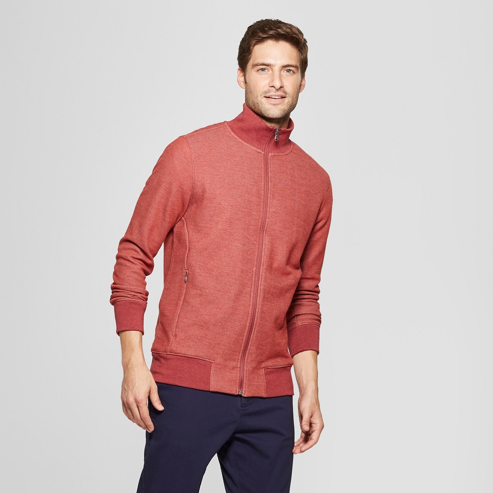 Men's Standard Fit Long Sleeve Track Fashion Jacket - Goodfellow & Co Ripe Red L