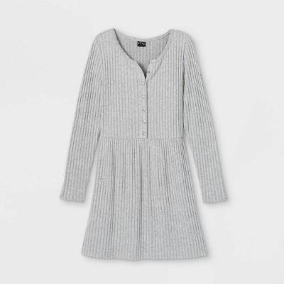 Girls' Cozy Henley Dress - art class™