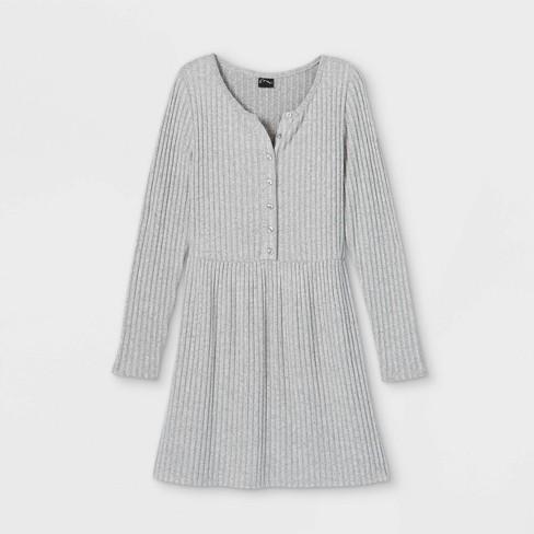 Girls' Cozy Henley Dress - art class™ - image 1 of 2