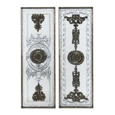 Set of 2 Doorways Past Mirrored Panels Bronze - A&B Home