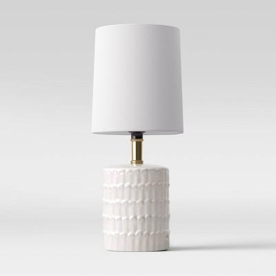 Ceramic Mini Table amp White (Includes LED Light Bulb)- Opalhouse™