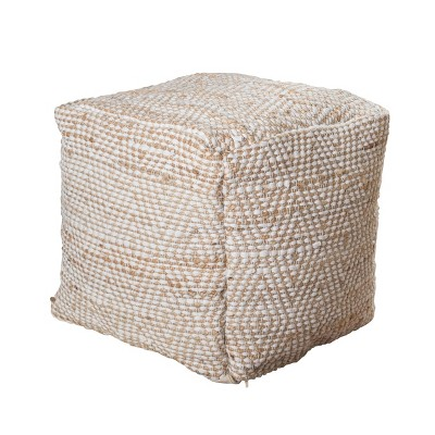 Abella Moroccan Inspired Pouf Ivory - Christopher Knight Home