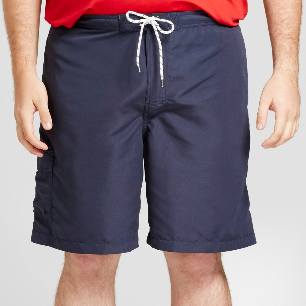 Men's Big & Tall Board Shorts With Side Pocket 9 - Goodfellow & Co Navy (Blue) 2XB