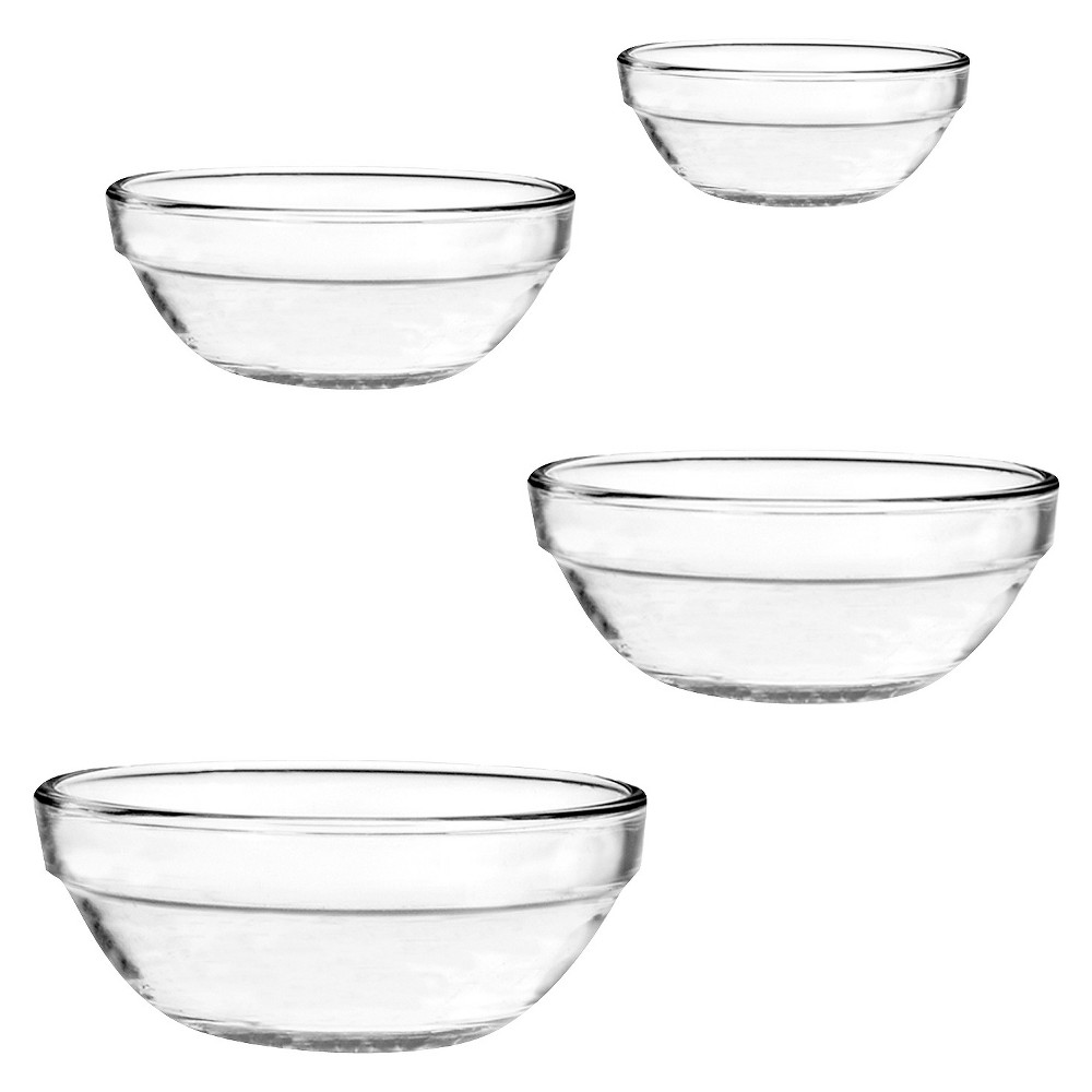 Image of Anchor Hocking 4 Piece Nested Mixing Bowls Set, Clear