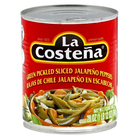 La Costena Green Pickled Sliced Jalapeno Peppers - 28oz - image 1 of 3