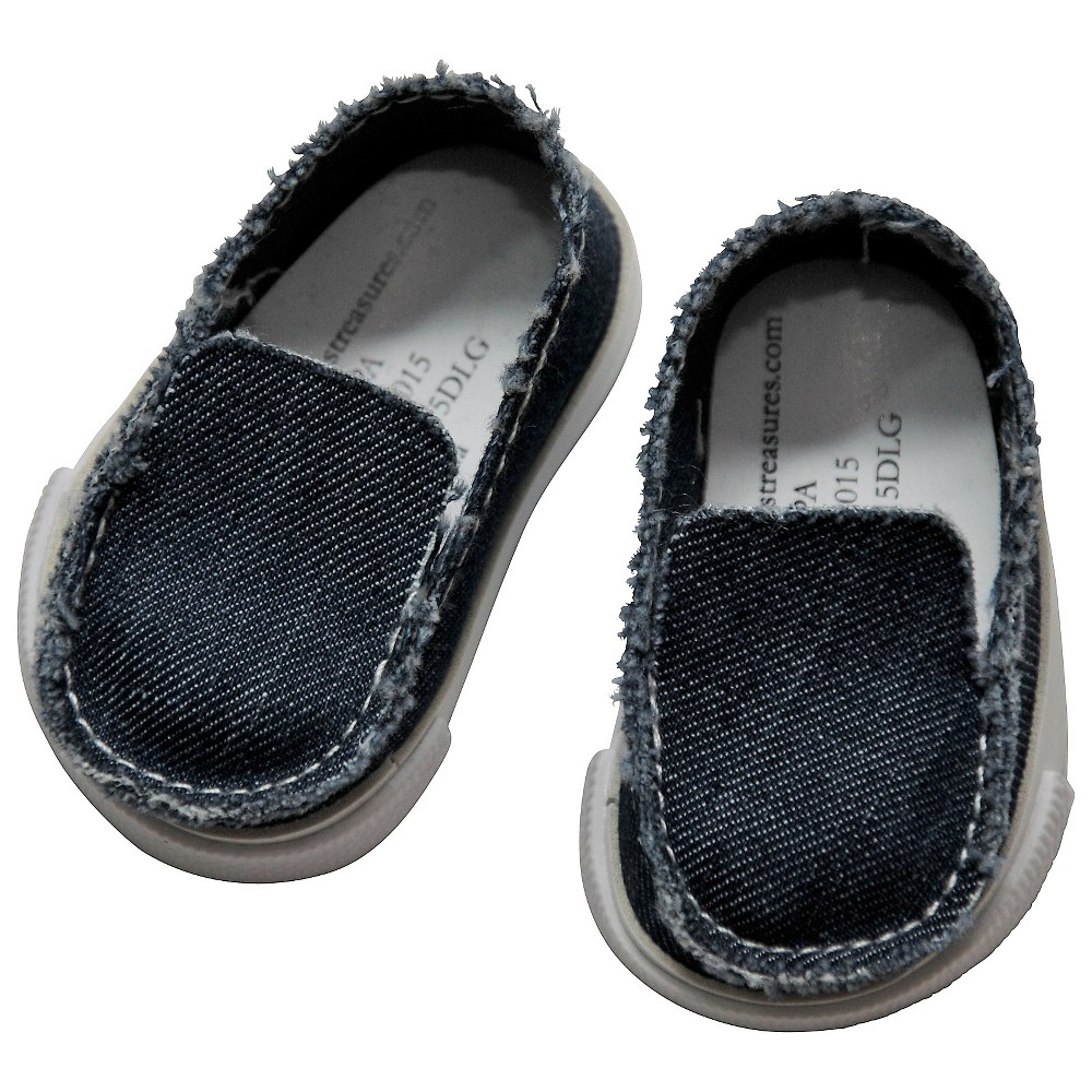 The Queen's Treasures 18 Inch Doll Clothes Accessory, Denim Slip-on Style Shoe And Authentic Shoe Box