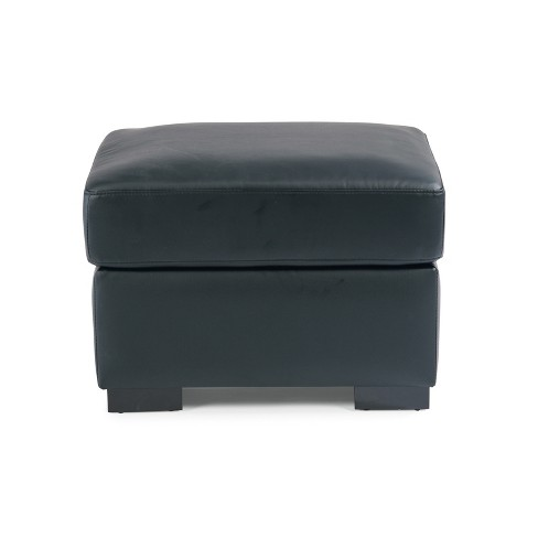 Alex Upholstered Contemporary Ottoman Black - Home Styles - image 1 of 1
