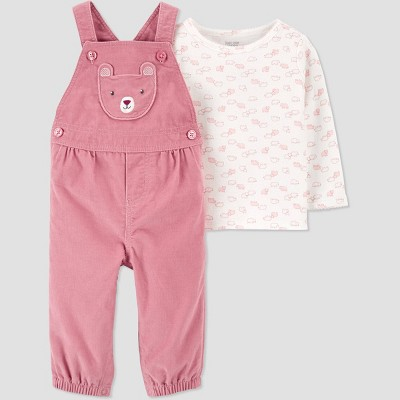 Baby Girls' 2pc Bear Top & Bottom Set - Just One You® made by carter's Pink 3M