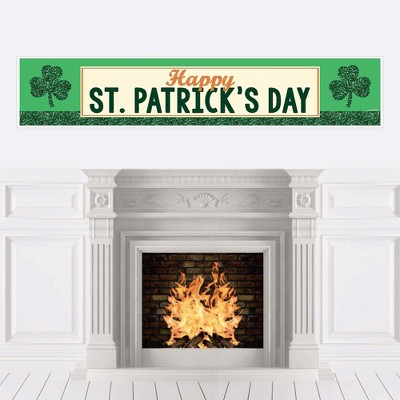 Big Dot of Happiness St. Patrick's Day - Saint Patty's Day Party Decorations Party Banner