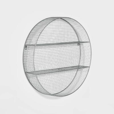 Circle Shelf Wall Sculpture Gray - Pillowfort™