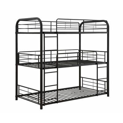 Full Cairo Triple Bunk Bed Sandy Black - Acme Furniture