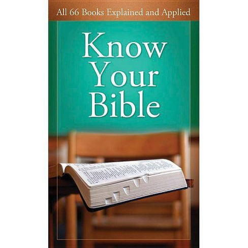 Know Your Bible - (Value Books Value Books) by  Paul Kent (Paperback) - image 1 of 1