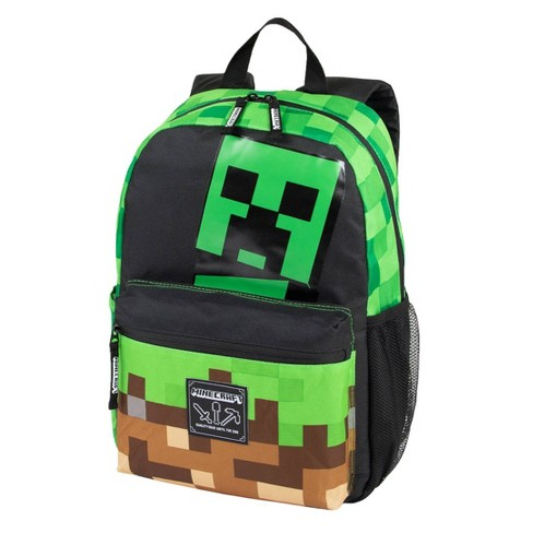 """Minecraft 17"""" Creepy Thing Backpack - Black/Green - image 1 of 4"""