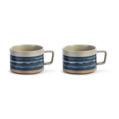 DEMDACO Life is Better at the Lake Soup Mug - Set of 2 Blue