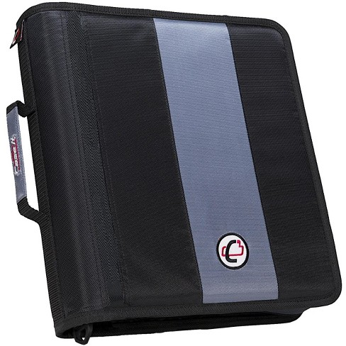 Case-it Classic O-Ring Zipper Binder, 13 x 12 x 3 Inches, Black, 2 Inches - image 1 of 2