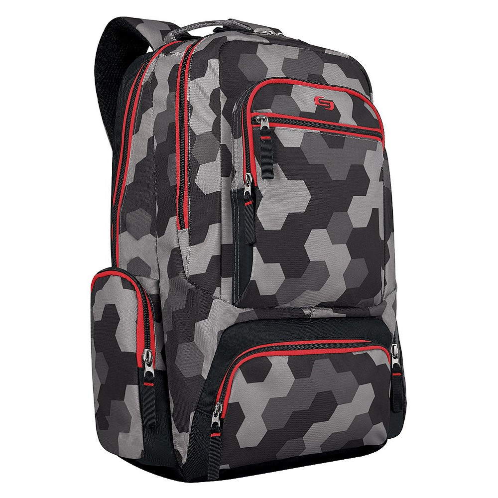 Solo 16 Bolt Backpack -Gray, Red/Grey